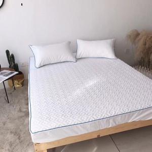 30 cm yükseklik yatak 4color için uygun matterss ped yatağı üst kapitone dolgu Antibakteriyel pamuk yatak örtüsü% 100 pamuklu kumaş