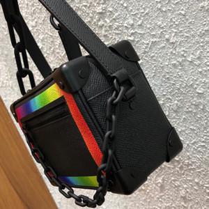 2020 de lujo para hombre de la marca Mini bolsas de diseñador de bolsos de lujo monederos modificación clásica del arco iris suave cadena de paquete de la caja de la bolsa crossbody ck2501124