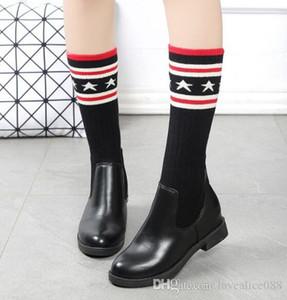 Luxo mulheres meias de malha sapatos Elastic Mulheres Moda da força Botas meias Sexy Ladies Magro perna over-the-knee boots Sapatas da mulher botas de neve