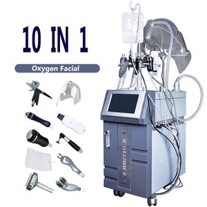 Oxygen multifuncional spray Facial máquina Spa Salon Cuidados Facial 10 Handles Oxygen Injector Water Jet Sprays máquina Facial
