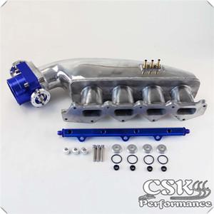 Intake Manifold Fuel Rail 80 milímetros Throttle Body Ajustes para Mitsubishi EVO 1 2 3 4G63