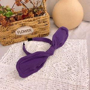 xQlkJ coreana Tu Er orejas de conejo estilo mariposa mariposa otoño invierno cambiante venda del bebé lindo del arco diadema vende germinación tarjetas todo