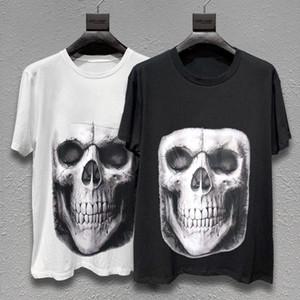 Mens estilista camiseta Moda Hombres Mujeres cráneo Impreso camiseta del verano Negro Blanco Moda de Calle manga corta M-XL