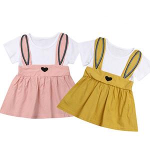 الصيف الاطفال طفلة الأرنب الأرنب الكرتون عطلة حزب اللباس فستان الشمس الملابس