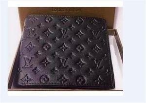 Presentes Carteira 2q7 Hot Vender moda preto Letra Folding bolsa carteira clássico curto para Homens Mulheres Preto Carteiras Bolsas