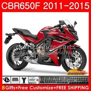 Corpo per HONDA CBR650F CBR 650 F CBR650F 11 12 13 14 15 16 42HC.0 CBR650 F CBR650 CBR 650F 2011 2012 2013 2014 2015 carenatura fabbrica rosso