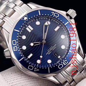 La mejor calidad de pulsera de acero profesionales 300m James Bond Maestro Co-Axial automática inoxidable de los hombres para hombre Sprot Relojes de pulsera