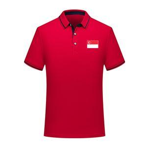 2020 Singapur-Nationalmannschaft Fußball-Polo-Hemd Fußball Short Sleeve Polo Sporttraining Polos Fußball-Fußball-T-Shirt Jersey Herren Polos