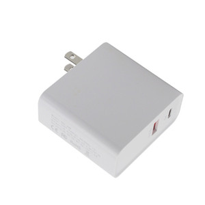 2 en 1 48W Dual USB Fast Charger y USB-C Power Quick Charge 3.0. Adecuado para teléfonos y tabletas 2 en 1 cargador de pared de CA con fuente de alimentación USB