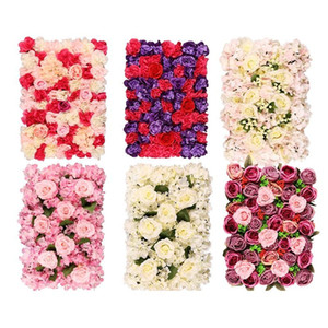 Artificial Rose Flower For Wedding Decoration Flower Wall 40*60cm Romantic Wedding Xmas Backdrop Decor Flower Party Supplies GGA2378