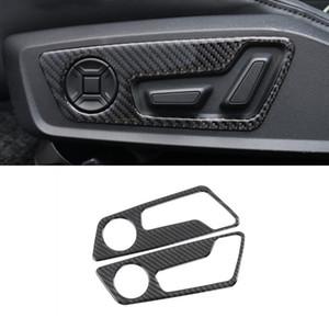 Car Styling Sitzverstellung Decorative Panel-Aufkleber für Audi A6 C8 A7 2019 Carbon-Faser-Innenausstattung