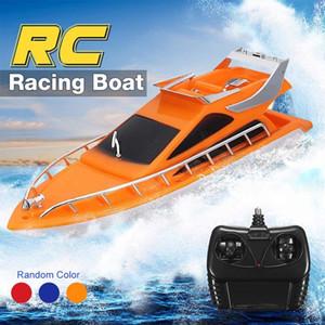 Barco elétrico Barco Remoto Controle Twin Motor de Alta Velocidade Barco Crianças Ao Ar Livre RC Racing Boat Barco Crianças Brinquedo Presentes Y200413