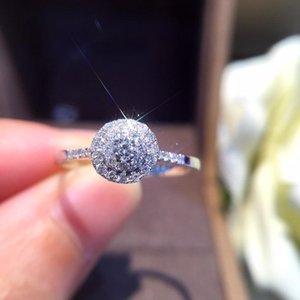 Anello Diamante naturale 18K Pure Pure Gold Wedding Real 750 Solid Classico Donne Trendy Donne Vendita calda Presente Partito personalizzabile 2018 Nuovo J190714