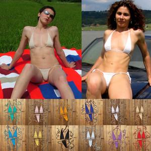 13 colori a mano all'uncinetto Solarium Mini Bikini cotone 100% caldo del bikini sexy delle donne Micro Swimwear