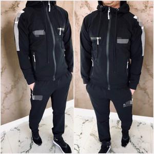 Sportswear Fatos Homens Define Corredor da ginástica Treino Fitness Musculação Mens Hoodies + calças Jogger Suit Sport Outdoor Vestuário