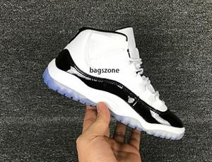 11s crianças Tênis de basquete Athletic Branco Rosa Preto Cores Sapatos esportivos para meninos das meninas 11 Sneakers Shoes Tamanho 11C-3Y