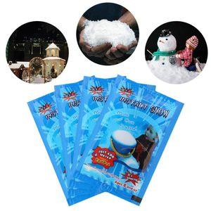 100pcs Kunstschnee Gefälschte magische Sekunde Fluffy Snow Festival Partydekoration Künstliche Schneeflocken für Weihnachten Hochzeit Hot