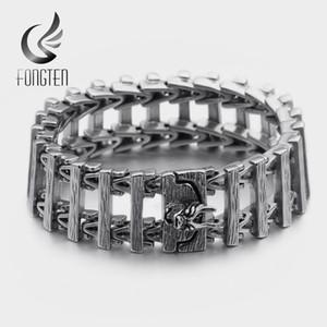 Cadeia Fongten Dragão Viking Bracelet Bangle Men aço inoxidável link pulseiras Masculino moda jóias
