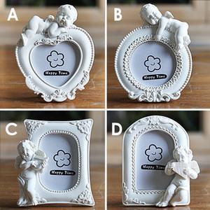 2 polegada Bonito Anjo Cupidos Imagens Quadro Estilo Europeu Resina Moldura Da Foto Do Bebê Meninos Meninas Presente Do Partido
