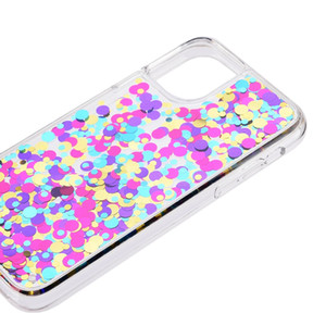 Colorful Fowing Copertine Arcobaleno Coppia telefono Bling Bling Quicksand PC indietro TPU Phone Case Bumper