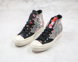 2020 new Flowers Crystal flower High Top Sneakers in Oblique Mens Brand Designer Shoes mens and Womens Fashion Sneakers Size36-44
