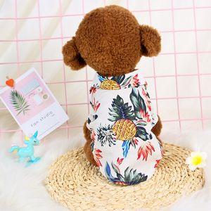 Pet Clothes Spring and Summer New Hawaiian Fengtidi Small Dog and Dog Shirts Cloth Cat Clothes Wholesale