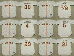 St. Louis Browns 31 Dizzy Dean 4 Rogers Hornsby 29 Satchel Paige 5 Albert Pujols 1/8 Eddie Gaedel Jersey de béisbol