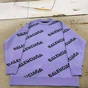 2020 Lettera di stampa delle donne di marca maglione Giacche Half-collo alto Maglioni Knit delle signore del cappotto del cardigan Abbigliamento Donna