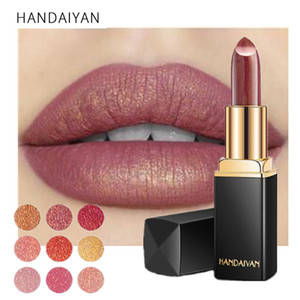 New Brand Professional Lips Makeup Waterproof Long Lasting Pigment Nude Pink Mermaid Shimmer Lipstick Makeup Cosmetics
