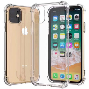 Air Cushion Corner Transparent Ultra Soft TPU Silicone Rubber Cover Case For iPhone 11 Pro Max XS XR X 8 7 6 6S Plus SE 2020 5 5S Anti-konck