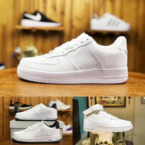 2019 Nike Air Force 1 one airforce Shoes Fuerzas baratos Solo Unisex 1 euro de punto de aire de alta Mujeres Todos Blanco Negro Rojo del instructor de los zapatos ocasionales