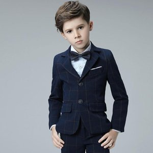 High-end Baby Boys Blazer Sets for Weddings Party Prom Suits Kids Tuexdo Children Clothing Set Boy Formal Classic Costume Y951