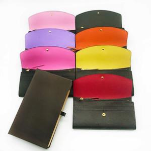 Бесплатная доставка Оптовая дамы многоцветный портмоне длинный кошелек старый цветок карты пакет оригинальной коробке дамы классический карман на молнии