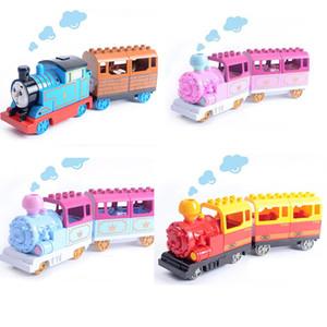 Gorock Duplo Battery Operated Toys Train Blocks Pista per bambini Giocattoli educativi Treno elettrico Mattoni Treno Giocattoli Regalo Y190606