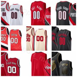 Screen Imprimer Basketball CJ McCollum Jersey Damian Lillard Hassan Blanchon Rodney Hood Anferrnee Simons Pau Gasol City Fini gagné