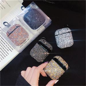 Caja del diamante brillante que relucir Bing Airpods Para Airpods Protector Para aire Vainas caso Airpods Caso inalámbrica auriculares