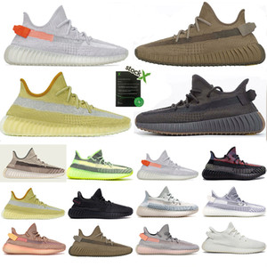 Designer Shoes Tail Running Light Sneaker Femmes Hommes Zebra V2 Yecheil Marsh Kanye West pleine Reflective Lin Cinder Terre Scarpe Air Chaussures