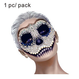 HFG03 Skull Makeup Inspired Party Face Gem Sticker Body Paint Decor for Dressing Party Carnival Holiday Gift