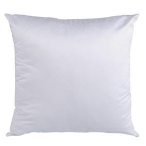 sublimación en blanco funda de almohada de piel de melocotón impresión por transferencia en blanco funda de almohada blanca melocotón flannelette consumibles 40 * 40 CM 45 * 45 CM