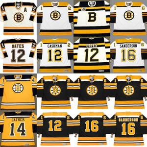 Boston Bruins Adam Oates Wayne Cashman Bill Guerin Glen Sather GARNET ACE BAILEY Milt Schmidt Derek Sanderson personalizado Hockey Jerseys S-5XL