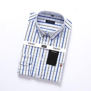 2019 T-shirt dos homens de mangas compridas alta camisa de algodão 100% de boa qualidade dos homens casuais 9ant moda camisa social dos homens da marca camisa M a 4XL