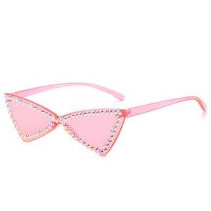 Мода кристалл алмаза Ne Street Выстрел Sunglass 2020 Новый ретро солнцезащитные очки Fashion Street Выстрел площади Большая рамка 9Li6W mycutebaby007 AOYHG