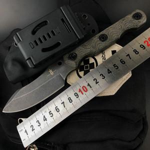 Reino de arsenal VG10 62 HRC tanto gota lâmina de faca de lâmina reto fixo feito à mão por David M. Rydbom dobrar auto faca da sobrevivência do exterior def