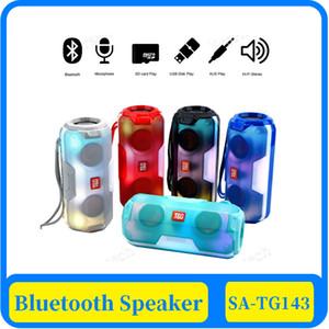 bar coluna 40x TG143 LED Bluetooth Speaker caixa de som portátil sem fio 20W rádio FM estéreo boombox usb aux som do PC para o iPhone
