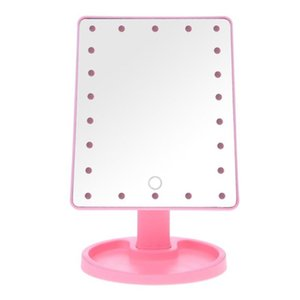 Make Up LED Mirror 360 Degree Rotation Touch Screen Make Up Cosmetic Folding Portable Compact Pocket With 22 LED Light Makeup Mirror R0039