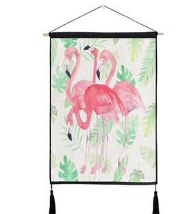 Moda rosa fenicottero arazzo appeso a parete in cotone biancheria da letto divano sfondo immagine home decor matrimonio gallina tema decorazione del partito
