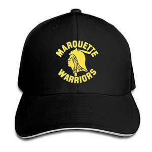 Marquette guerreiros Boné de beisebol ajustável Sandwich repicado Chapéus Unisexe Homens Mulheres de beisebol Esportes Ao Ar Livre Hip-hop Cap