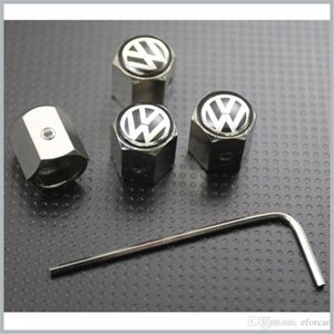 Volkswagen do pneu da roda do pneu da haste da válvula Covers Air poeira Caps Anti-Theft Locking VW mais de 300 Logo Car diferente disponível