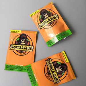 Gorilla Glue BAG 3.5g Odore Proof Borse Vape Packaging per Dry Herb Gorilla Glue mylar Zipper bag DHL