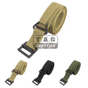 Tactical 1.5 inch CQB Rigger's Belt EmergencyRescue Rappel Waist Adjustable belt W  V-Ring Buckle For Shooting Hunting Outdoor